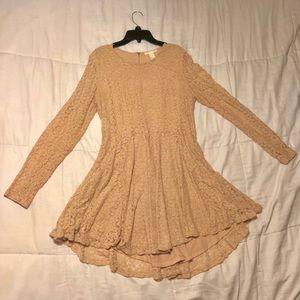 Light peach H&M Lace Dress